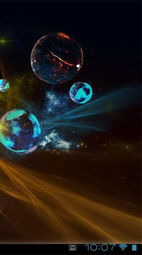 Full version of Android apk livewallpaper Deep space 3D for tablet and phone.