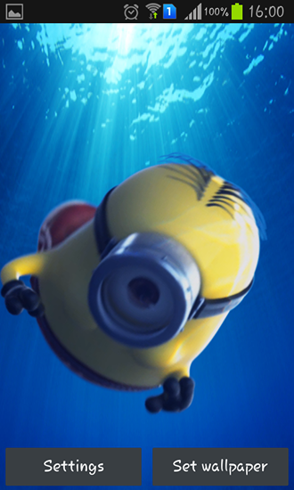 Screenshots of the live wallpaper Despicable me 2 for Android phone or tablet.