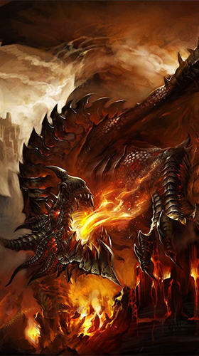 Full version of Android apk livewallpaper Fire dragon 3D for tablet and phone.