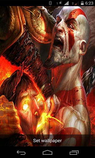 Screenshots of the live wallpaper God of war for Android phone or tablet.