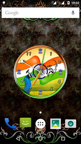 Full version of Android apk livewallpaper India clock by iPlay Store for tablet and phone.