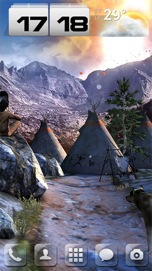 Screenshots of the live wallpaper Native american 3D pro full for Android phone or tablet.