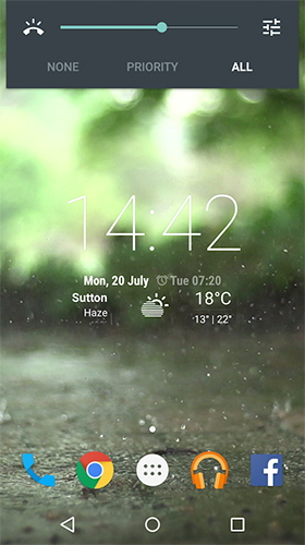 Full version of Android apk livewallpaper Real rain for tablet and phone.