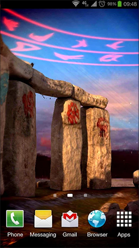 Full version of Android apk livewallpaper Stonehenge 3D for tablet and phone.