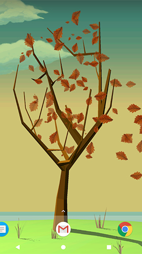 Full version of Android apk livewallpaper Tree with falling leaves for tablet and phone.