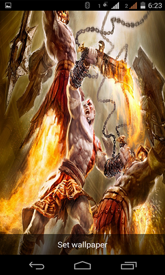 Full version of Android apk livewallpaper God of war for tablet and phone.