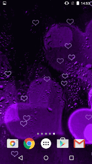 Full version of Android apk livewallpaper Purple hearts for tablet and phone.