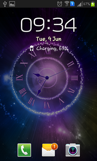 Ady clock превратит ваш телефон в настольные цифровые часы с несколькими цветовыми темами.