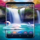 Download live wallpaper Waterfall and swan for free and India clock by iPlay Store for Android phones and tablets .