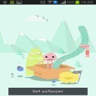 Download live wallpaper Cute monsters for free and Magic garden by Jango LWP Studio for Android phones and tablets .