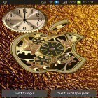 Download live wallpaper Golden apple clock for free and Luxury by HQ Awesome Live Wallpaper for Android phones and tablets .