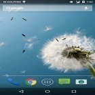 Download live wallpaper Magic neo wave: Dandelion for free and Digital clock for Android phones and tablets .