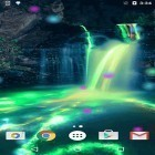 Download live wallpaper Neon waterfalls for free and Fire tornado for Android phones and tablets .