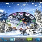 Download live wallpaper Winter snow clock for free and Luxury by HQ Awesome Live Wallpaper for Android phones and tablets .