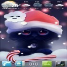 Download live wallpaper Yin the cat for free and Christmas HD for Android phones and tablets .